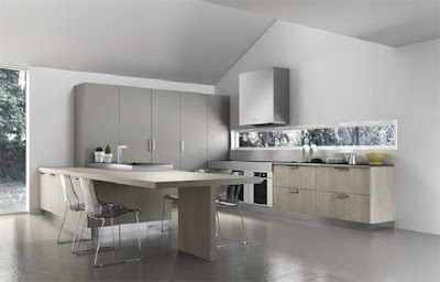 elegant U kitchen idea with functional furniture
