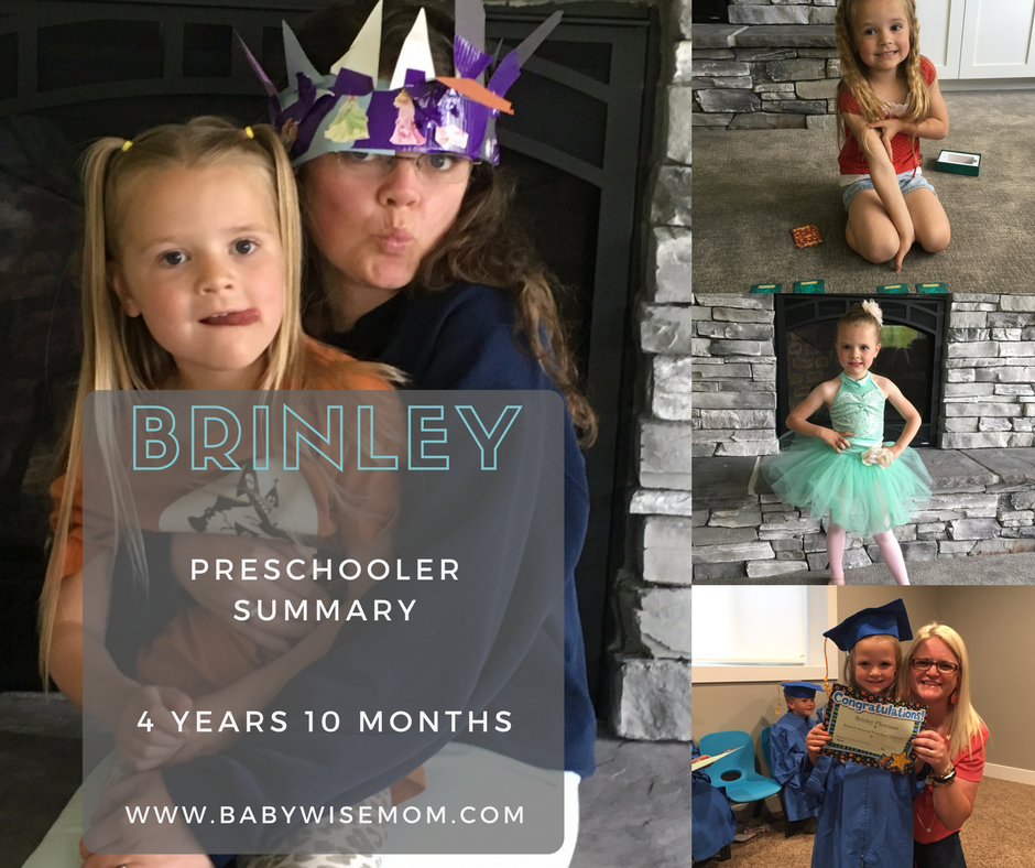 Brinley Preschooler Summary: 4 Years and 10 Months Old
