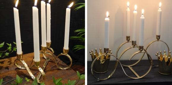 Köp ljusstake Åttan i mässing från Miccis House hos Longcoast Living.