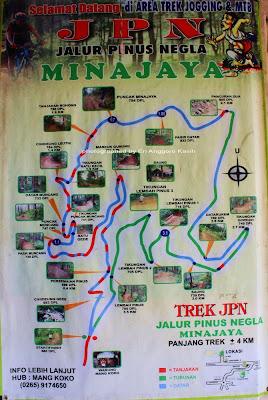 Peta rute trek JPN