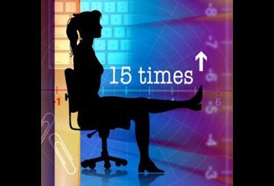 Cách thực hiện động tác căng cơ phần dưới trên ghế văn phòng