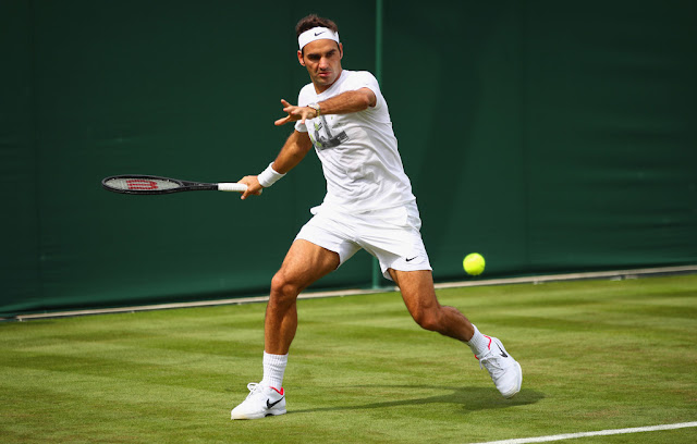 Image result for Roger Federer stands tallest of all as Wimbledon's history man