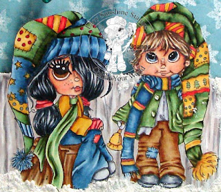 Colours and Cards Snow Days Rory & Reggie Christmas Bells
