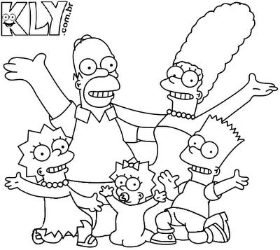 Desenhos Dos Simpsons Para Colorir Desenhos Para Colorir