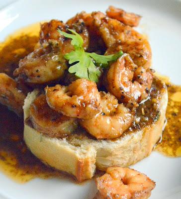 bbq shrimp on bread