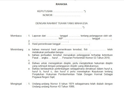 Contoh Surat Keputusan Disiplin Pns Tidak Dengan Hormat Docx Size