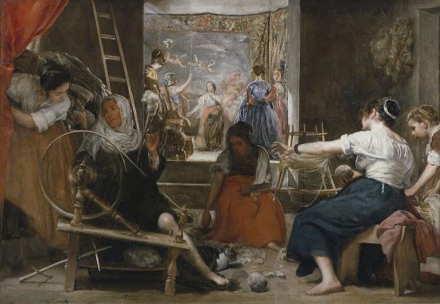 D. Velázquez - Las hilanderas o La fábula de Aracne (ca. 1658)