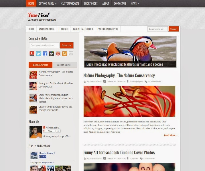 bright mag blogger template