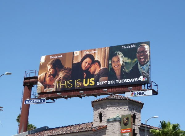 This Is Us series launch billboard