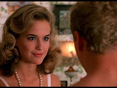 Kelly Preston look of lust before sex, without dress on