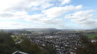 Stirling városa a magasból