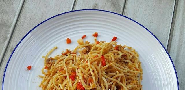 Resep Spaghetti, Spaghetti Tuna, Spaghetti Tuna Sambal Matah