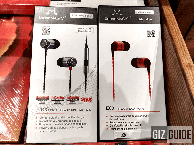 Soundmagic E10s and E80