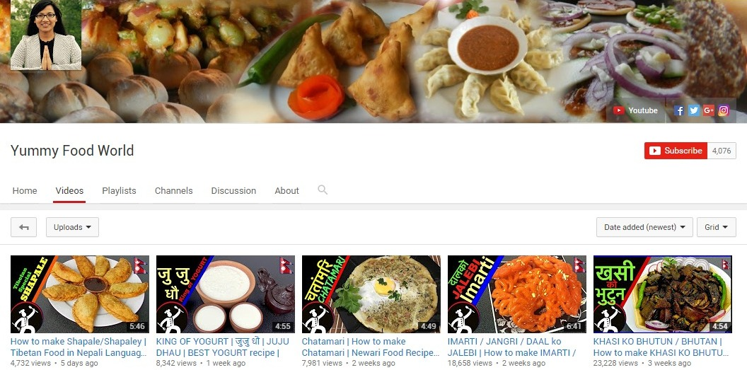 popular youtube cooking channels nepal