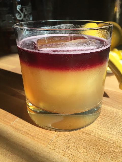 A New York Sour, the greatest cocktail known to man