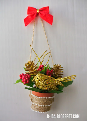 DIY Christmas Woodland Ornament