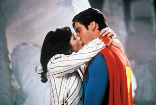 Christopher Reeve and Margot Kidder as the Man of Steel and Lois Lane in the Fortress of Solitude in Superman 2 (1980)
