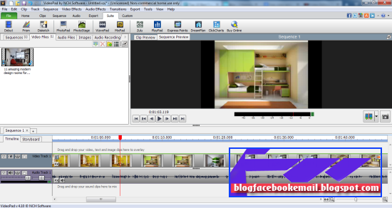 download software edit video VideoPad video editor gratis