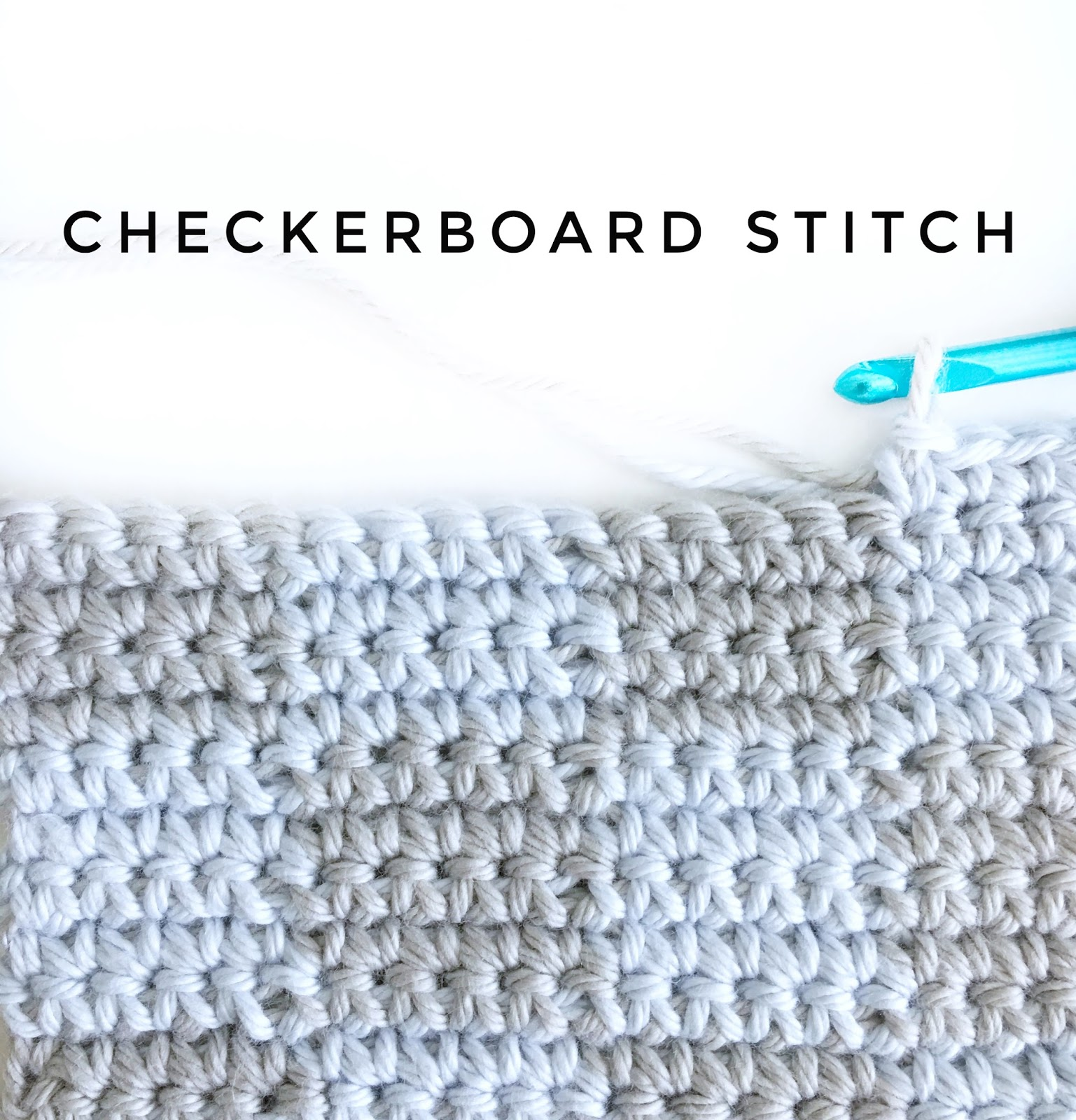 Crochet Checkerboard Stitch Daisy Farm Crafts Dinah Dish Cloth