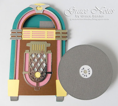 Jukebox B-day Card with Record, by Grace Baxter