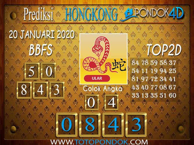 Prediksi Togel HONGKONG PONDOK4D 20 JANUARI 2020