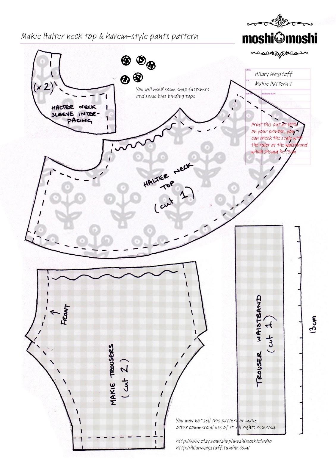Moshi Moshi Makie Patterns