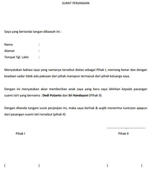 Surat Perjanjian Adopsi