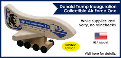 President Trump Inauguration Plane available at HolgateToy.com