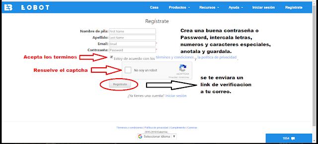 ¿Como registrarse en eobot?