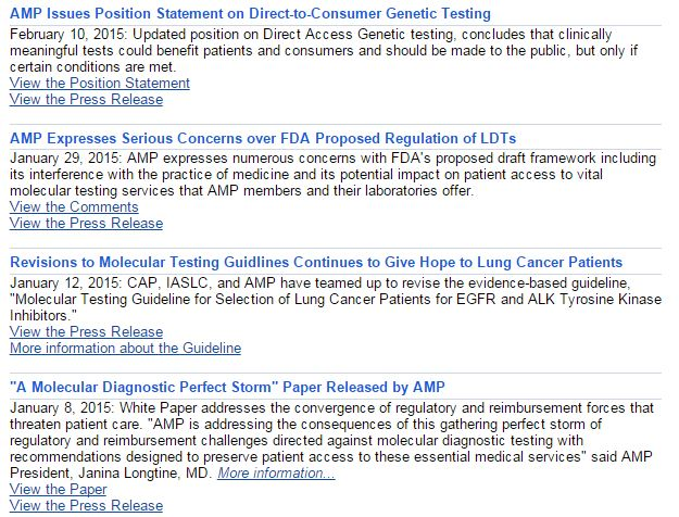 cce6c63c0c2 Discoveries in Health Policy  Keeping up with AMP  Numerous Recent ...
