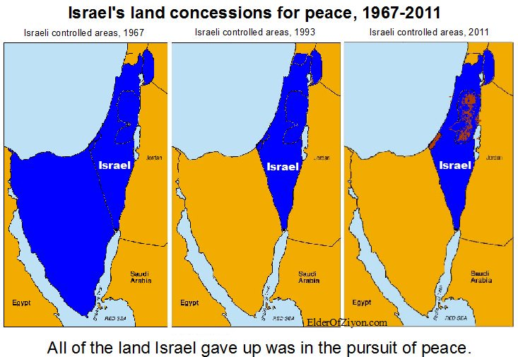 Debunking the map that lies elder of ziyon israel news this map shows that israel gave up control of the sinai gaza southern lebanon and much of the west bank over the years rather than falsely accusing gumiabroncs Choice Image