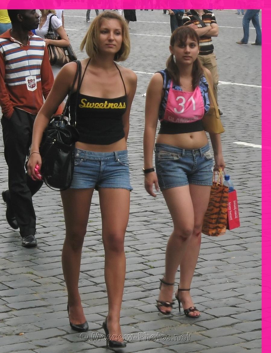 Girls In Demim Shorts at Glamour Stiletto Run 2008