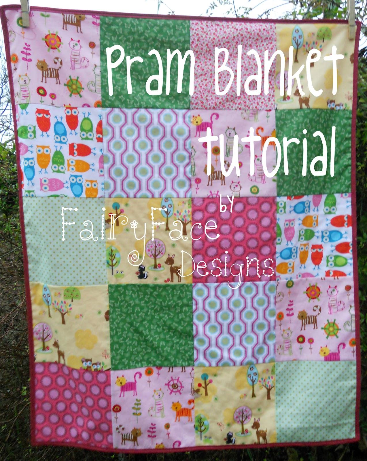 Fairyface Designs Sew Get Started Pram Blanket Tutorial