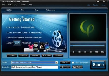 برنامج تحويل الفيديو لاكثر من صيغه Total Video Converter 3.71