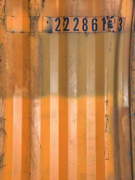 orange container, urban photography, contemporary, photo, art