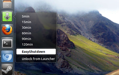 easyshutdown-schedule shutdowns in Ubuntu
