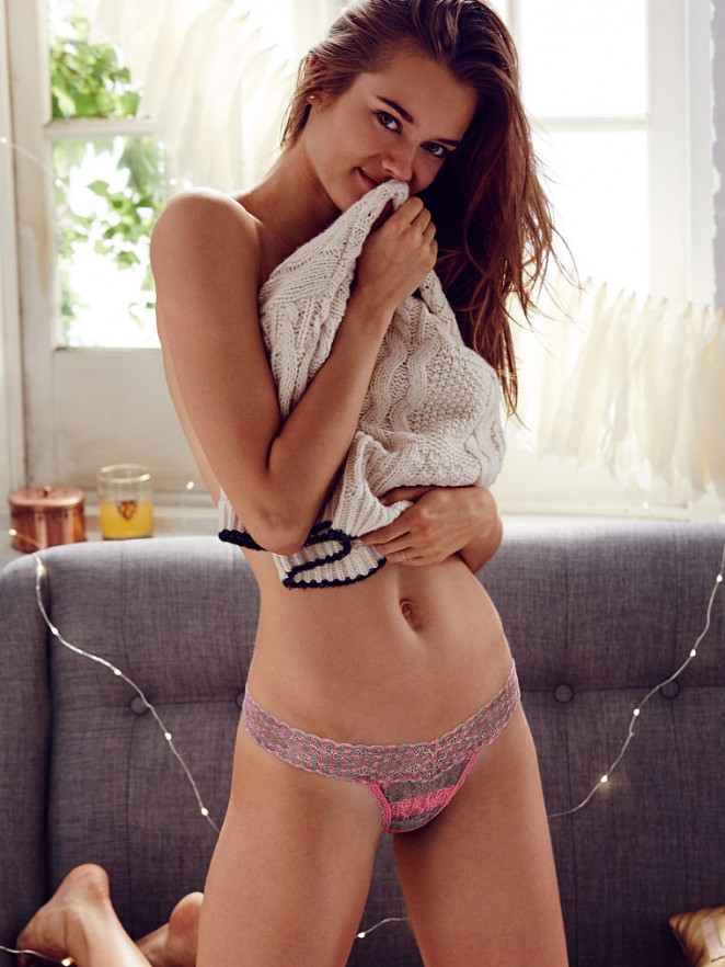 Monika Jagaciak strips to lingerie for Victoria's Secret Lookbook