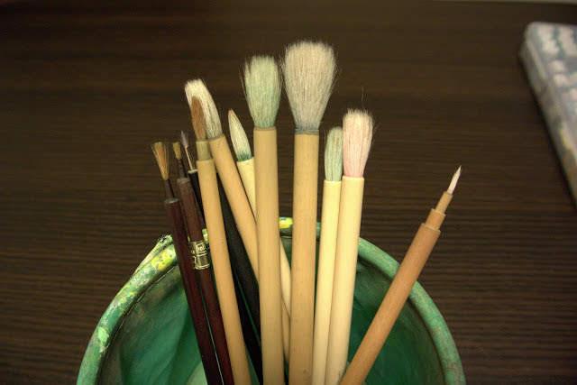水彩画 筆
