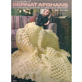 Knit Pattern for Cable afghan with fringe
