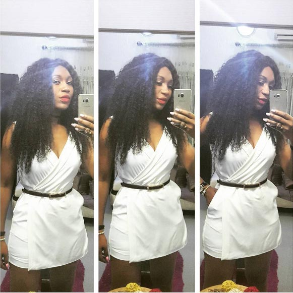 Ebube Nwagbo flaunts curves in white mini gown