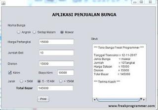 Cara Membuat Program Penjualan Bunga Sederhana Java Netbeans (IDE)
