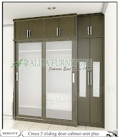 Lemari baju minimalis cabinet unit Crocs