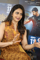Rakul Preet Singh smiling Beautyin Brown Deep neck Sleeveless Gown at her interview 2.8.17 ~  Exclusive Celebrities Galleries 091.JPG