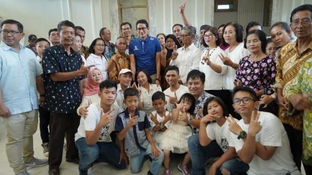 Giliran Komunitas Umat Katolik Dukung PAS, Eni Harianto: Sumbangan Kami Tulus Pak Sandi ...