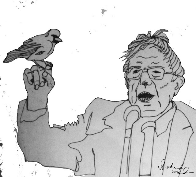 Bernie Sanders and a Sociable Weaver