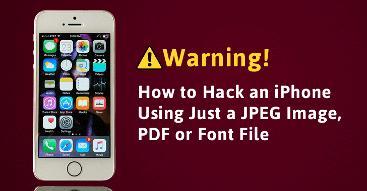 how to remotely hack an iphone warning your iphone can get just by opening a jpeg 4933