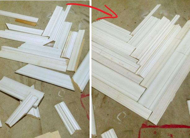 how to repurpose scrap pieces of molding