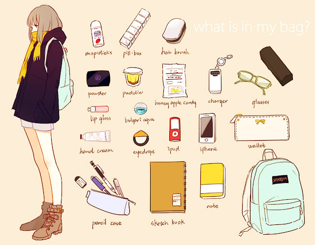 what's in your bag???? Oppss- nortaqifa abd shaidi