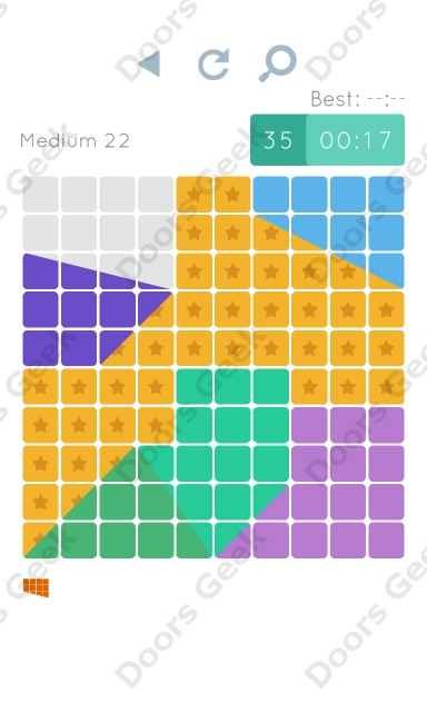 Cheats, Walkthrough for Blocks and Shapes Medium Level 22