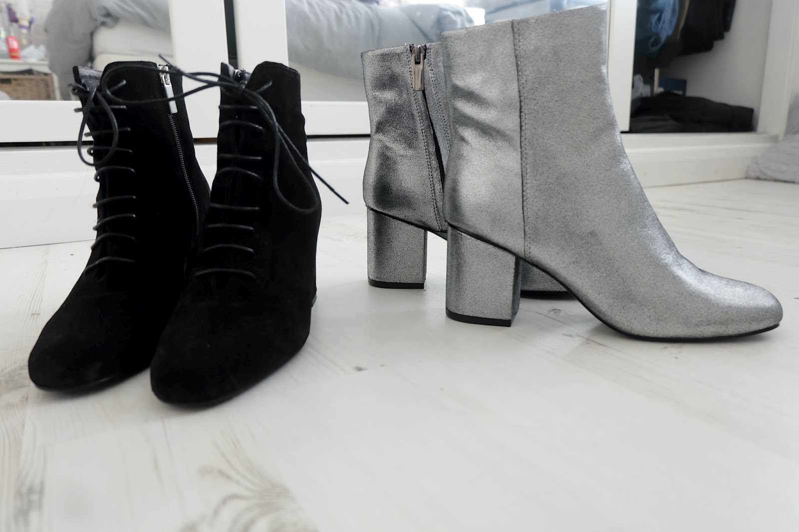 zalando iconics lace up boots, warehouse metallic ankle boots